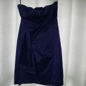 The Limited blue strapless dress sz 12